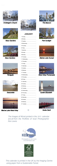 Wirral Calendar - back