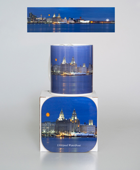Mug: Liverpool Waterfront at twighlight