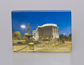 Fridge Magnet: St Georges Hall & Fountain, Liverpool