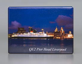 Fridge Magnet: The QE2, Liverpool