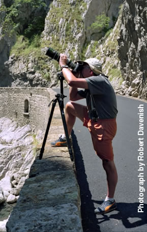Photographer Kenneth Edward Lewis on location in Provence