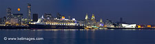 Queen Mary with Harvest Moon - click to zoom